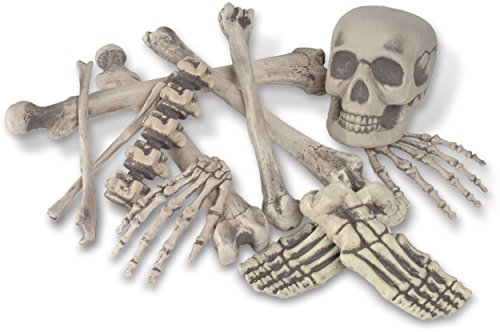 Skeleton Decoration Bone Décor, Bag of Bones, 6 inches to 16 inches, 12 Piece Set