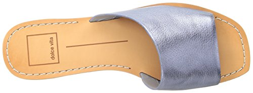 Caramel Vita Sandal Slide Dolce Metallic Cato Leather Women's Blue q6pwxFS