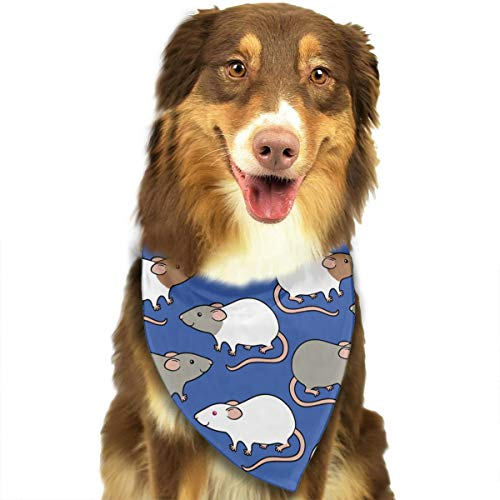 OURFASHION Cute Rats Upgraded Bandana Triangle Bibs Scarfs Accessories for Pet Cats and Puppies.Size is About 27.6x11.8 Inches (70x30cm). -