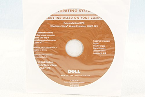 Windows Vista Installation Dvd - Dell Operating System Reinstallion DVD Windows Vista Home Premium 32 Bit SP1 Recovery Driver Computer Program Software Installation Replacement Disc Recovery-Sealed New