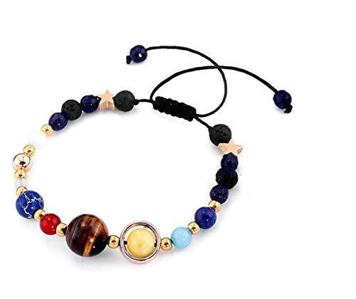 TransporToys Handmade Solar System Natural Stones Beads Bracelet
