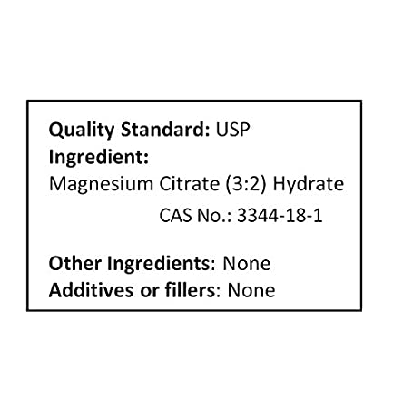 Amazon.com: nusci Citrato de magnesio polvo 227 g (8 oz ...