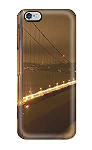 8141667K64826275 Protection Case For iphone 6 plus / Case Cover For Iphone(golden Gate Bridge Nights)