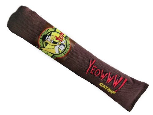 Yeowww Cigar Catnip Toy, Singles - Stuffed Cigar