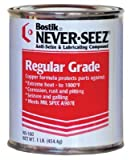Never-Seez NSB-4 Silver Gray Regular Grade Anti-Seize Compound, -297 Degree F Lower Temperature Rating to 1800 Degree F Upper Temperature Rating, 1/4 lb. Tube