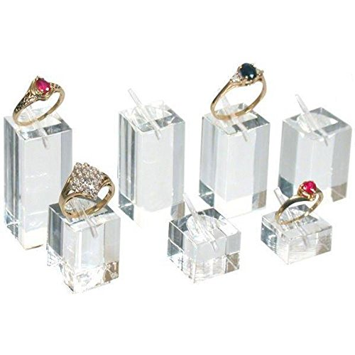 Ring Display Stands Square Acrylic