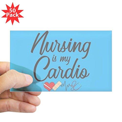 CafePress - Nursing Is My Cardio - Sticker (Rectangle 50 pk) by CafePress