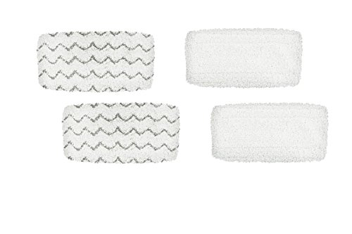 Steam Broom - Steam Mop Pad Kit for Bissell Symphony Hard Floor Vacuum and Steam Mop 1132, 1543 series, by AI-Vaccum, Pack of (4)