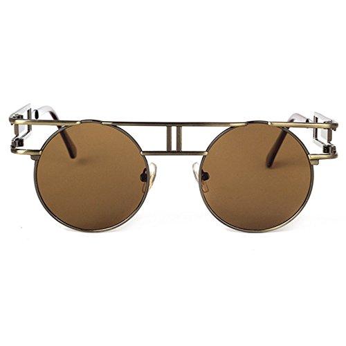 sol Dama hombre brillante de retros punk retro sol H de gafas reflectante Gafas Aoligei góticos de gafas YUZtwqt