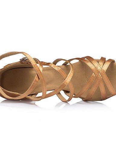ShangYi Chaussures de danse ( Noir / Jaune / Vert ) - Personnalisables - Talon Personnalisé - Satin - Latine / Salsa / Samba , yellow-us8 / eu39 / uk6 / cn39 , yellow-us8 / eu39 / uk6 / cn39