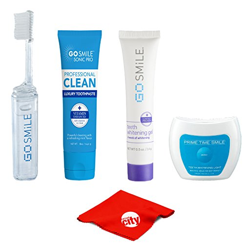 (Go Smile Intro Pro Teeth Whitening Starter Kit with Advanced Gel, Toothpaste, Toothbrush and UV Light)
