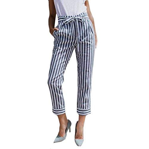 Alta Blau Flecos Con De Elegantes Cintura Ligero Lindo Rectos Mujer Libre  Pantalones Las Fashion Chic Cómodo Tiempo Verano Vintage Es Damas Cinturón  AcxOcpq c94aba05a4b5