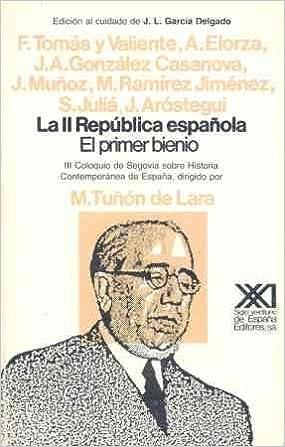 La II República española: El primer bienio (Historia): Amazon.es ...