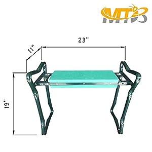 MTB Heavy Duty Folding Garden Kneeler Bench for weeding and Portable Garden Stool Seat With Bonus Tool Pouch,EVA Kneeling Pad