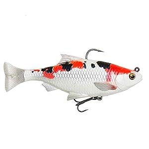 Savage Gear 3D Line Thru Pulse Tail Roach Fishing Lure 2 Pcs (Koi, 13cm/38.5g)