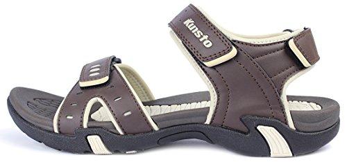 Kunsto Men's Sport Outdoor Sandal US Size 10 Brown by Kunsto (Image #2)