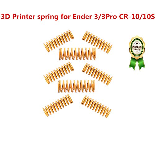 HICTOP Ender 3 Upgrade 3D Printer Heatbed Springs Motherboard Accessories 0.31 in OD 0.78 in Length Compression Springs Light Load for Creality CR-10 10S S4-8 Pack