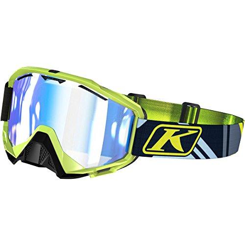 Klim Radius Adult Snow Snowmobile Goggles Eyewear - Tenacious Smoke Tint Blue Mirror / One Size