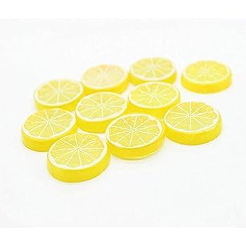 Amazon.com: Ángel altamente simulación amarillo falso limón ...