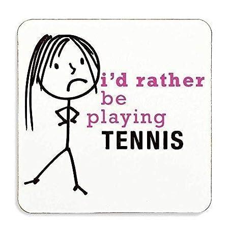 Mujer Más Bien Be Playing Tenis Posavasos Esposa Regalo ...