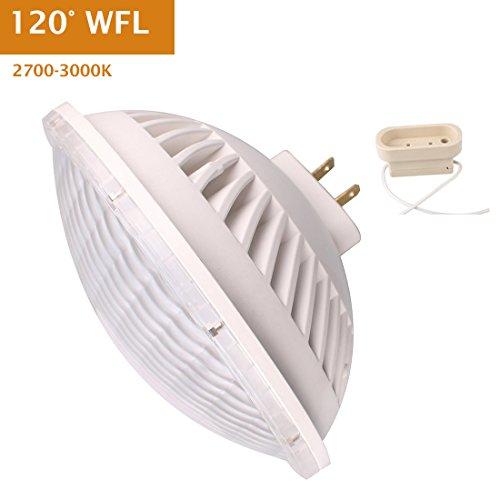 Par56 LED Bulb 30W Flood Light Warm White (2700-3000K) WFL 120°Beam Angle, Non-dimmable, GX16D Base, Replace Par-56 300W Halogen (Par 56 Mogul End Prong)
