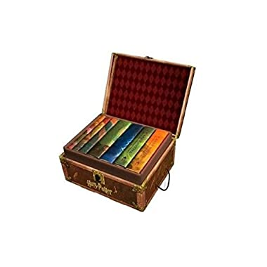 Harry Potter Books Set #1-7 in Collectible Trunk-Like Toy Chest Box, Decorative Stickers Included