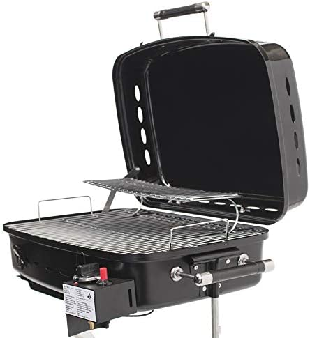 Flame King RV Or Trailer Mounted BBQ – Motorhome Gas Grill – 214 Sq Inch Cooking Surface – Adjustable Flame Controller, Black