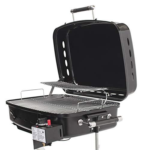Flame King RV Mounted BBQ - Motorhome Gas Grill - 214 Sq Inch Cooking Surface - Adjustable Flame ()