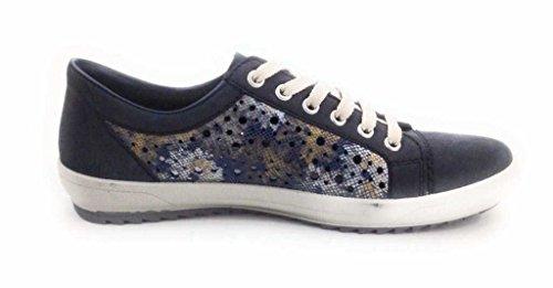 Rieker M6015, Zapatillas para Mujer ozean/blau-metallic
