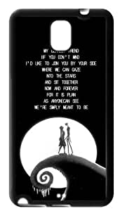 Romantic The Nightmare Before Christmas Samsung Galaxy Note 3 Case Cover TPU Jack Sally MOON Covers Quotes