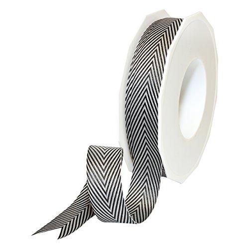 Morex Ribbon 2219.22/25-613 Herringbone Polyester, 7/8