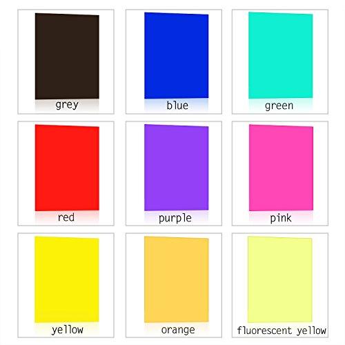 eBoot 9 Pieces Gel Filter Transparent Color Film Plastic Sheets ...