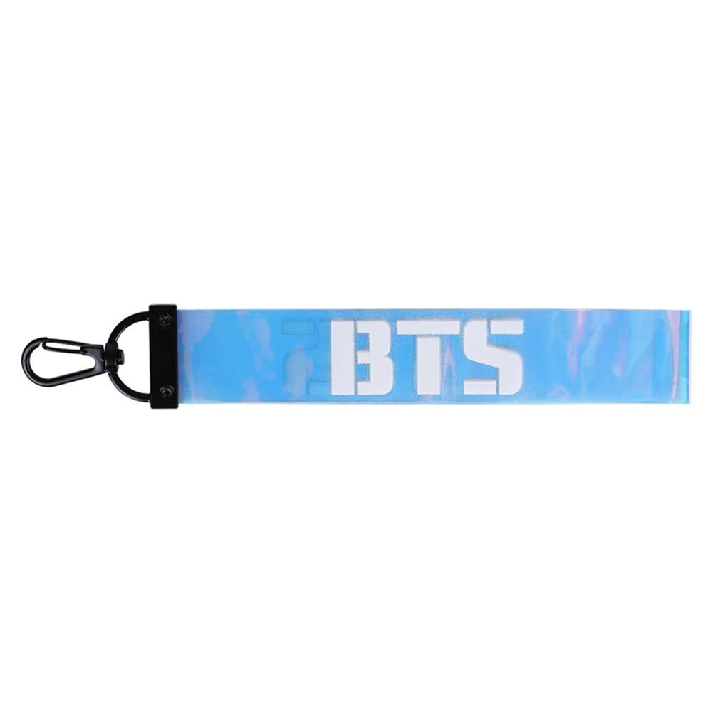 Chour & Euhk Kpop BTS Got7Wanna One Seventeen Laser Nom Barre de téléphone portable Lanyard DIY coloré en PVC Porte-clés Pendentif Bijoux de sac d'école chaude Cadeau pour les fans Bts