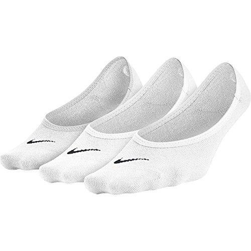 Nike No Show Socks 3PPK Lightweight Footi, White/Black, M, SX4863-101