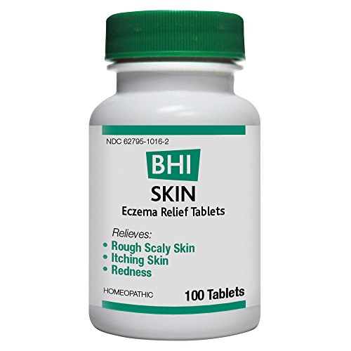 BHI Skin Eczema Relief Tablets - Homeopathic Formula for Minor Eczema Symptoms: Rough Scaly Skin, Itching Skin and Redness - 100 Count