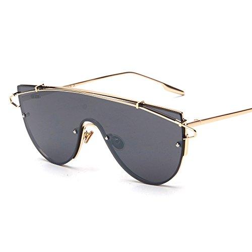 Color Espejo Rosa De Enormes Sol De Metal Femenino gold Sol Gafas Rosa Unas with black Gafas Frío De TIANLIANG04 De Mujer Vintage Masculino Lente RfqTfwOv