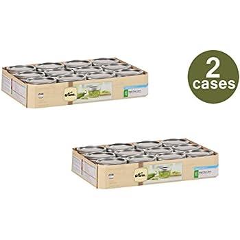 Kerr Mason Jars Half Pint 8 Oz Wide Mouth 12 / Box Pack Of 2