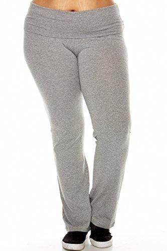 UPC 646809237126, Active Womens Ladies Plus Size Yoga Pants HGY-h grey 2XL