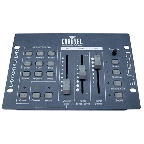 CHAUVET DJ Obey 3 Compact DMX Controller for LED DJ Light Fixtures
