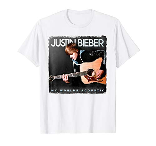 Justin Bieber Official My World Acoustic Album Cover T-Shirt
