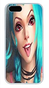 Best Quality For SamSung Galaxy S5 Mini Phone Case Cover White Pc Case - Authentic Game Role - Blue Hair Red Eyes