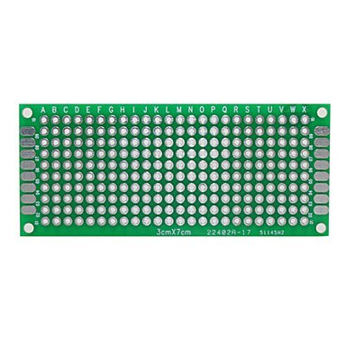 Pcb Keyboard Assembly - ZCL PCB Prototype Blank PCB 2 Layers Double Side 3 x 7cm Protoboard - Green