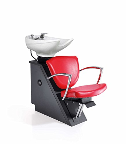 Veronica Shampoo Shuttle, Red Seat, White Bowl By Standish Salon Goods ()