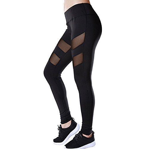 f217f851e36f09 Tulucky Through Patchwork Stretchy Leggings. Review - Tulucky Women's See  Through Mesh Patchwork Pants Stretchy Workout Sports Gym Yoga Leggings