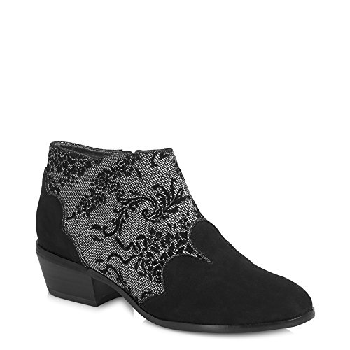 Free Ruby Protector Juliette Black amp; Divino Sole Boots Belle Shoo Women's Heel Ankle Low UqU8rS