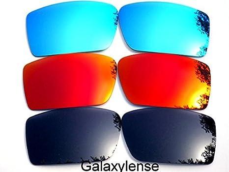 6aaba0240fe649 Galaxy verres de rechange pour Oakley Fuel Cell noir et rouge et bleu  Couleur Polarisé,