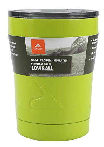 Ozark Trail Vacuum-Insulated Stainless Steel Tumbler (10 oz lowball) Lime