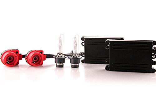 DDM Tuning 55W AC HID Conversion Slim Kit, Slim Digital Ballasts, D2S, 3000K ()