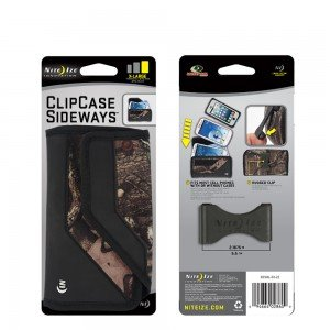 Nite Ize Black/Camouflage Mossy Oak Sideways Horizontal Rugged Heavy Duty X-large Holster Pouch W/Durable Fixed Belt Clip Fits Motorola Droid Turbo 2/Kinzie XT1585