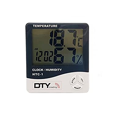 HTC-1 - BFHTC-1Humidity Time Display Meter with Alarm Clock, Wall Mount or Table Top, Multicolour 12